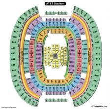 Att Stadium Seating Chart Seating Charts Tickets Regarding