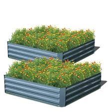 raised garden bed kit metal raised vegetable garden bed plant box growing flowers gray raised garden raised garden bed kit