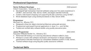 Chronological Resume Samples Examples Resume Non Chronological