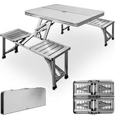 folding table and chairs set camping picnic dining furniture outdoor portable