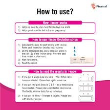 I Know Kit Chart I Know Ovulation Testing Strips For Planning Pregnancy 5 Strips