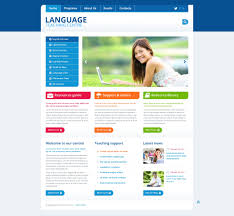 Website Template 45435 Language Center Classes Custom Website