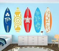 trusted surfboard wall art surf board decal pack for on original com print wooden decor design