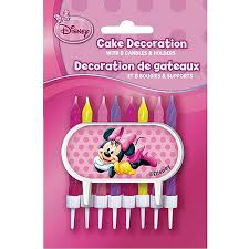Minnie Mouse Cake Decoration with 8 Candles and Holders Walmart