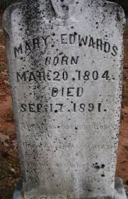 """Mary """"Polly"""" Crawford Edwards (1804-1891) - Find A Grave Memorial"""
