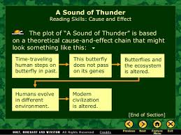 "a sound of thunder effect 10 the plot of ""a sound of thunder"""