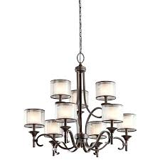 chandeliers 9 light chandelier mission bronze finish kl art ceiling lights berkeley square collection