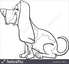 Basset Hound Dog Cartoon For Coloring