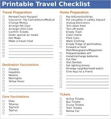 Sample Travel Checklist 8 Example Format