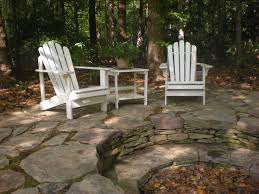 Rustic Firepit and Patio designed by Mary Kirk Menefee; installed by  Merrifield Garden Center