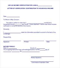 Income Verification Letter Template 7 Proof Of Income Letter Pdf