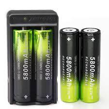 Image is loading 4X-SKYWOLFEYE-18650-Battery-5800mAh-Li-ion-3- 4X SKYWOLFEYE 18650 Battery 5800mAh Li-ion 3.7V Rechargeable