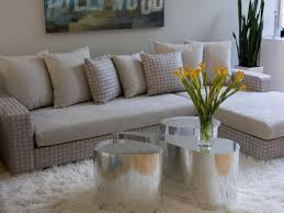 Yellow And Gray Living Room Decor Living Room Gray Recliners Gray Sofa White Shelves Brown Chairs