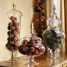 Apothecary Jar Decorating Ideas decorative glass containers pine cones Google Search Reception 30