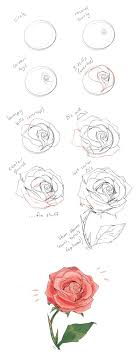 Small Picture How to draw a rose tutorial by cherrimut on tumblr Art Drawing
