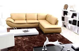 ... Brilliant Modular Sofas Forl Spaces Cream Leather Sectional Sofa With  White Short Table On Brown Fur Home Decor Small ...