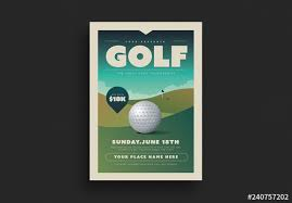 Golf Tournament Flyer Layout Buy This Stock Template And