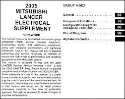 2005 mitsubishi lancer wiring diagram manual original 2005 mitsubishi lancer wiring diagram manual original · table of contents