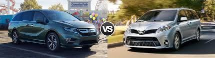 2018 Honda Odyssey Vs Toyota Sienna