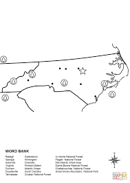 North Carolina Map Worksheet coloring page | Free Printable ...