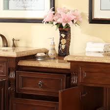 90 Bathroom Vanity Silkroad Exclusive 90 Double Sink Bathroom Modular Vanity Set
