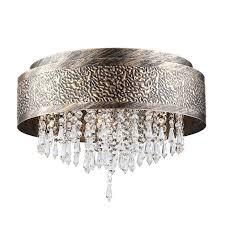 Vintage Antik Kristall Deckenleuchte Metall Design Lampe Deckenlampe