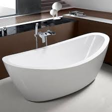 Image Synergy Kirsty Acrylic White Freestanding Bath 1800 850mm Drench Freestanding Contemporary Luxury Stand Alone Bathtubs Drench