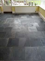 slate tiled floor bedford after cleaning and before sealing