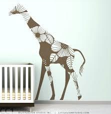 giraffe wall decals and giraffe wall art fl giraffe wall decal modern home design ideas brown giraffe wall decals