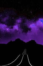 Dark Purple Aesthetic Stars
