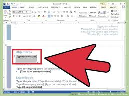 How To Do A Resume On Microsoft Word 14 Resume In Word Cv Cover