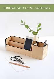 make it minimal wood desk organizer