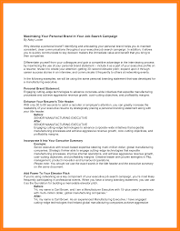 value statement examples for resumes personal branding statement examples up date vision sample brand