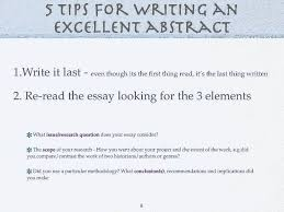 how to write an excellent extended essay abstract