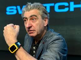 Swatch Chef Nick Hayek praesentierte die intelligente Uhr Swatch Touch Zero One bereits im Maerz.jpg