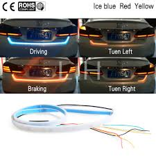 3 Color Led Tailgate Light Us 6 56 35 Off 3 Color Led Car Tail Trunk Tailgate Strip Light Brake 120cm Driving Signal Knight Trunk Light Car Led Light Strip In Car Light
