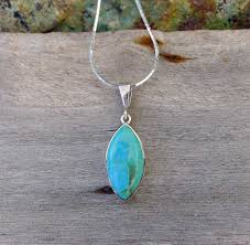 add to my lists kingman turquoise pendant in sterling silver