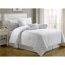 white california king comforter. Amazon Com Chezmoi Collection 7 Piece Hotel Dobby Stripe Comforter With California King White Set Decorations 5 M