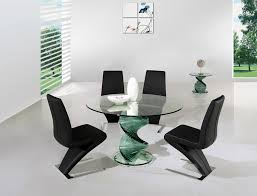 image of modern glass dining table round