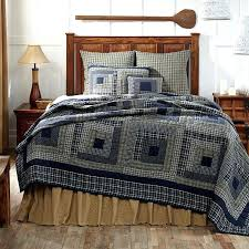 Blue Quilts And Bedspreads Columbus 4pc Twin Quilt Set Navy Blue ... & Blue Quilts And Bedspreads Columbus 4pc Twin Quilt Set Navy Blue Tan  Primitive Rustic Log Cabin Adamdwight.com