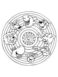 Kleurplaat Mandala Dieren Kleurplatennl