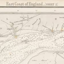 James River Depth Chart A Nautical Chart Of England East Coast Dungeness To The