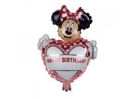 Balónek Happy Birthday S Minnie Mouse Lunzocz