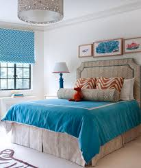 Blue And Red Decorated Room