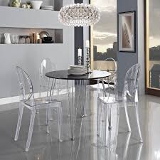 best lucite furniture for your interior design small dining room with black round dining table