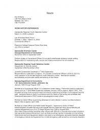Cover Letter Resume For Correctional Officer Correctional Officer