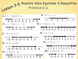 absolute value equations inequalities