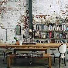Eclectic home office Boho Real Aged Brick For An Eclectic Home Office Interior Decorating And Home Design Idas Picture Of Real Aged Brick For An Eclectic Home Office Alrioinfo