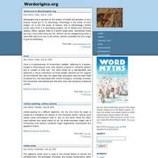 Word Origins Website Wordorigins Org Pearltrees