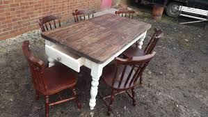 Pine Farmhouse Kitchen Table Shabby Chic Restorers Of Vintage Farmhouse Tables And Chairs